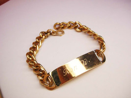 Vintage ID Bracelet Well Made Inscribed Ron W - $45.00