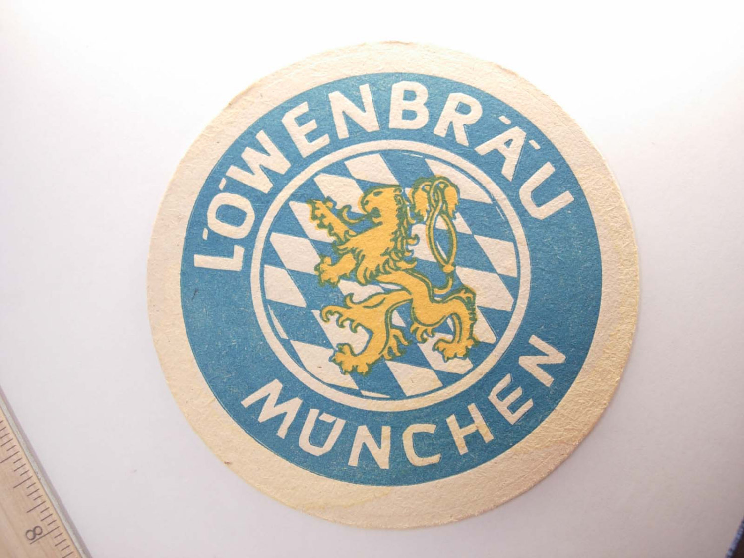 Vintage Lowenbrau Bier Coaster Munchen Germany Deustch Collectors