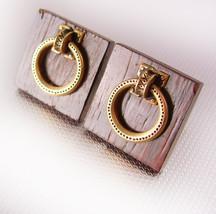 Mechanical Doorknocker Swank Cufflinks handle really moves Vintage medieval rena - $95.00