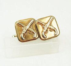 Vintage dueling pistol  cufflinks antique guns fathers day anniversary b... - $65.00
