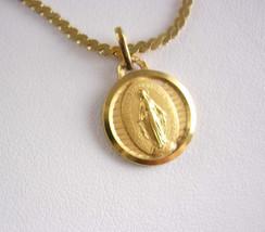 Spiritual Miraculous Medal Bracelet Vintage Religious Holy Charm Fob Nap... - $65.00
