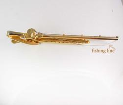 HICKOK Fly Fishing Tie Clip Pole Reel with Line Sportsmen Gold Filled Designer T - $65.00