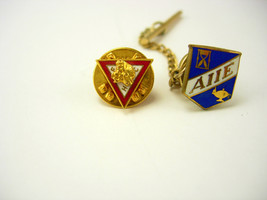 Vintage Two Enamel Lapel Pins AIIE Engineers and Masonic Moose FHP Frate... - $60.00