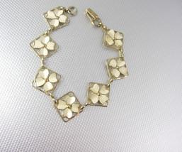 Four Leaf Clover sweetheart Bracelet Vintage Irish Lucky Birthday Friend... - $25.00