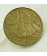 Vintage Barbados 1980 Coin Destash Five Cents  South Point Light House C... - $10.00