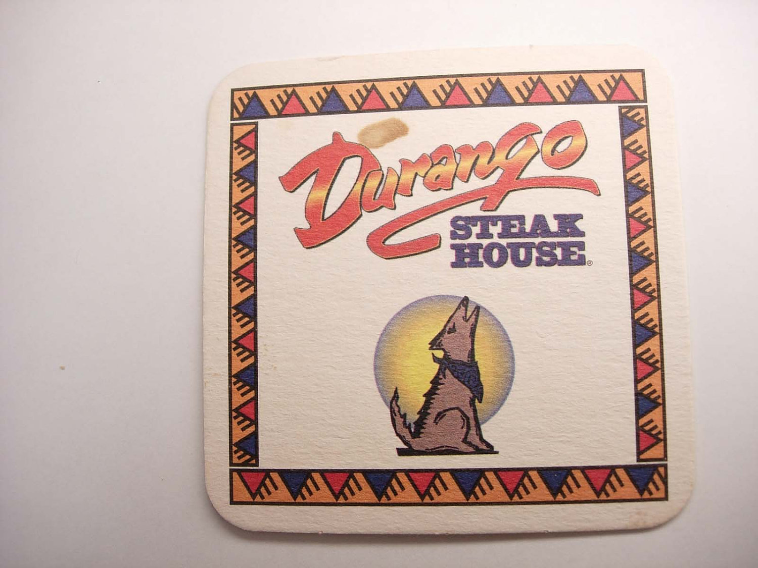 Vintage Durango Steak House Coaster Collectors Restaurants Business