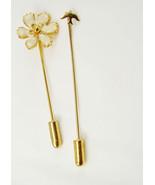 Vintage peace dove stick pin set enamel flower wedding birthday mothers ... - $15.00