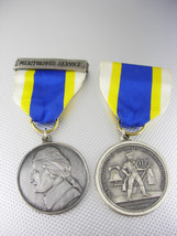 Vintage Set of 2 Meritorious Service Medals Sterling Silver 21.0 Grams I... - $110.00