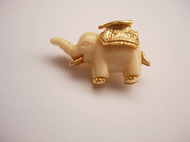 Vintage Small Elephant Ornate Pin Brooch Gold filled Figural Good Luck B... - $25.00