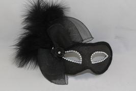 Venetian Goddess Masquerade Mask with High Fashion Macrame Lace & feather mk34 - $29.99