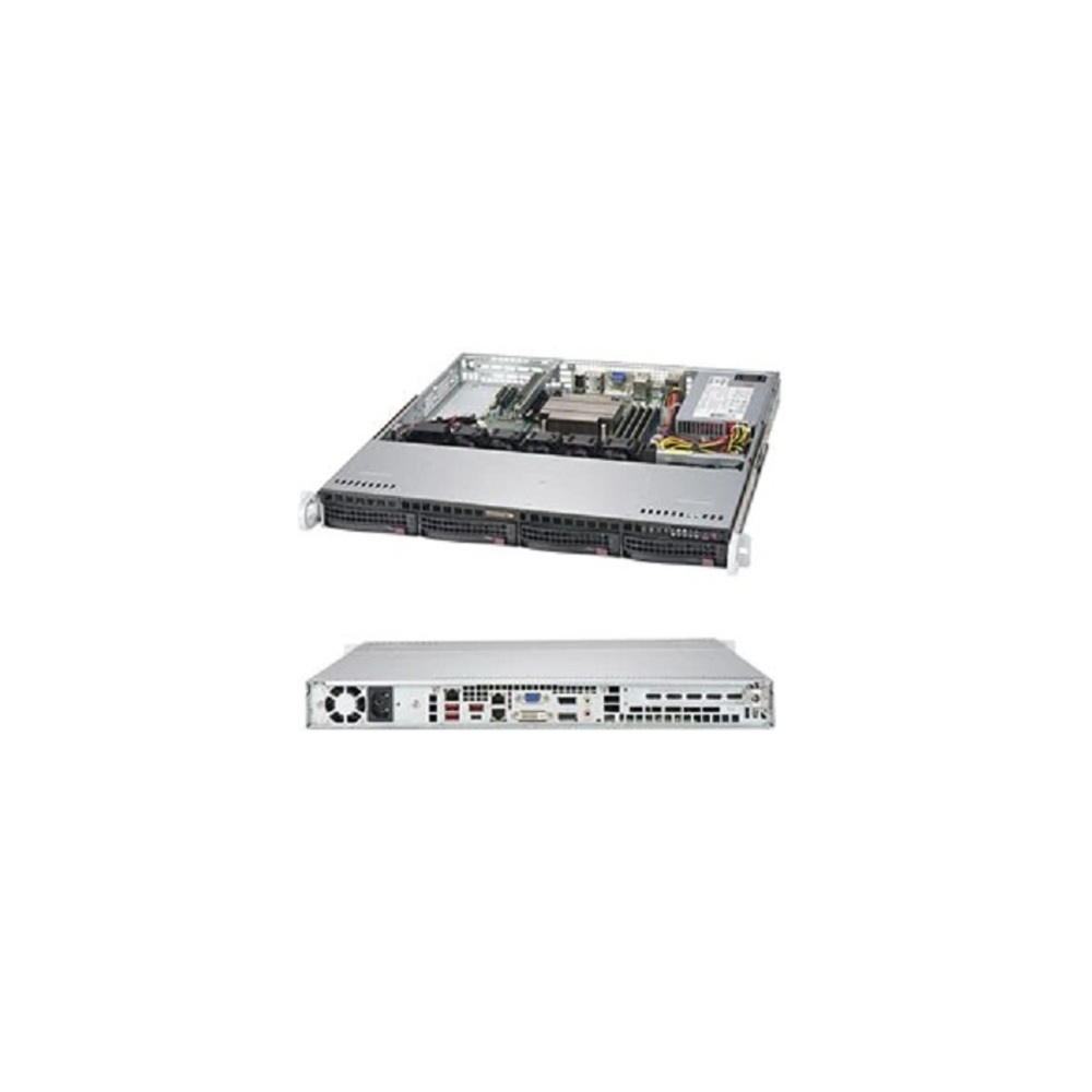 Primary image for SuperMicro Barebone Systems w/Motherboard No CPU No HDD 0-RAM 1x P/S 1U Rack-mou