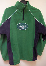 New York Jets S Fleece Sweatshirt Green 1/4 Zip Logo Long Sleeves Reebok - €18,27 EUR