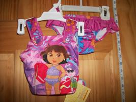 Dora The Explorer Baby Clothes 12M Infant Girl Swimsuit Swim Bikini Bathing Suit - $14.24