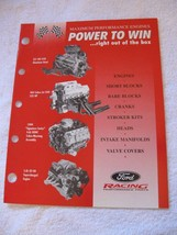 FORD RACING-POWER TO WIN-NOS BROCHURE-1999 COBRA POWERTRAINS!!! - $12.38