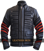 NWT Black Military Men Fashion Stylish Premium Genuine Real Leather Jacket - $179.99