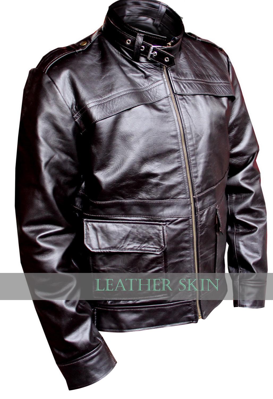 Black Coat Jacket Style Men Premium Sexy Stylish Leather Jacket -S M L XL  2XL