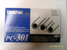 Genuine Brother PC-301 Multipack Print Cartridges (Contains 2) - $46.00