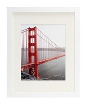 Frametory, 11x14 White Picture Frame - Made to Display Pictures 8x10 wit... - $14.24