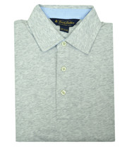 Brooks Brothers Heather Gray Slim Fit Soft Knit Polo Shirt Sz XLarge XL 3191-7 - $46.27