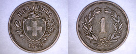 1929-B Swiss 1 Rappen World Coin - Switzerland - $14.99