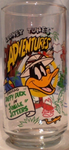 Primary image for Arby's Glass 1988 Adventurer Series Daffy Duck in Jungle Jitters