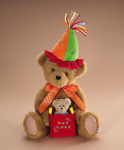 "Boyds Bears ""HAPPY B. Bear"" 14"" Plush Birthday Bear -#903165 - NWT-2007- Retired - $29.99"