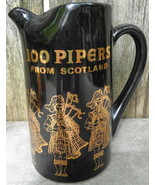 Seagrams 100 Pipers Black Scotch Liquor Pitcher Advertising Bar Mug Man ... - $15.00