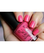 OPI *FEELIN' HOT HOT HOT!* Flamingo Pink Cream Nail Polish Lacquer .5 oz... - $8.93