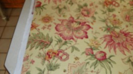 Yellow Burgundy Green Print Cotton Upholstery Fabric 1  Yard  F1325 - ₨1,732.95 INR