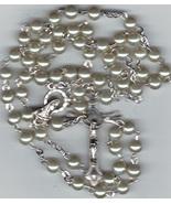 Rosary - Pearl White Bead - LPP5 - $14.99