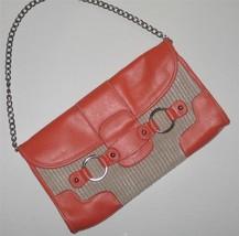 Merona Collection $40 Straw & Orange Clutch Han... - $14.00