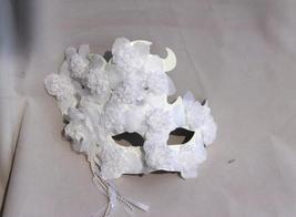 Venetian Goddess Hallowmas Masquerade Mask with High Fashion Macrame Lace  mk51 - $29.99