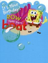 "Greeting Card Birthday SpongeBob SquarePants ""It's Your Birthday! Row yo... - $3.89"