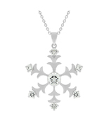 J Goodin Fashion Jewelry Gift Silvertone Snowflake Pendant With 15.5 Inc... - $25.00