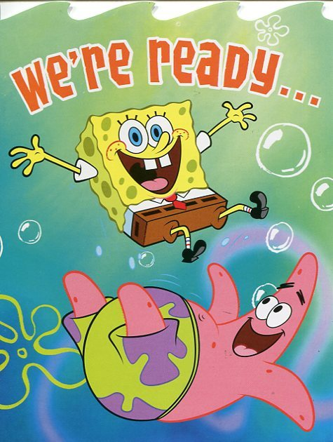 "Greeting Card Birthday SpongeBob SquarePants ""We're Ready"""