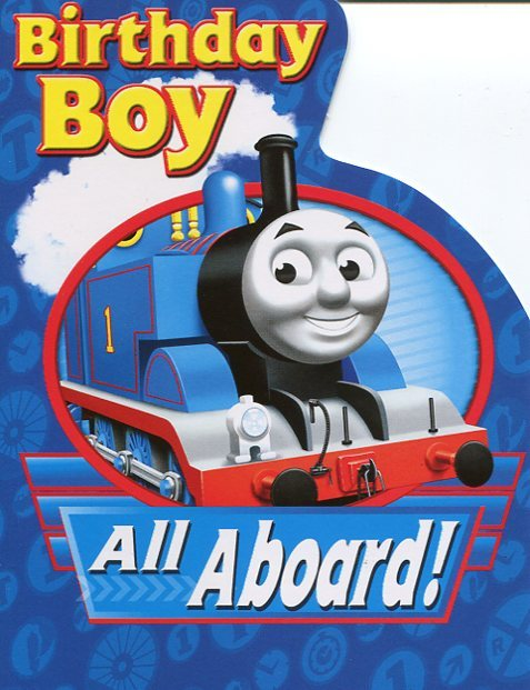 "Greeting Card Birthday Thomas the Tank Engine & Friends ""Birthday Boy All Board"""