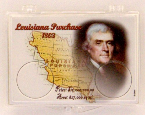2004 Louisiana Purchase 2X3 Snap Lock Coin Holders, 3 pack