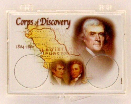 2004 corps of discovery nickel coin snap lock holder