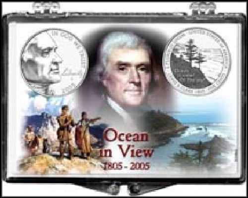 2005 ocean in view nickel coin snap lock holder