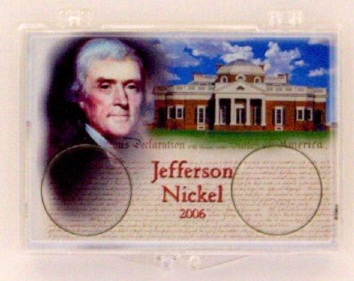 2006 jefferson nickel coin snap lock holder