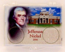 2006 Jefferson Nickel 2X3 Snap Lock Coin Holders, 3 pack - $5.99