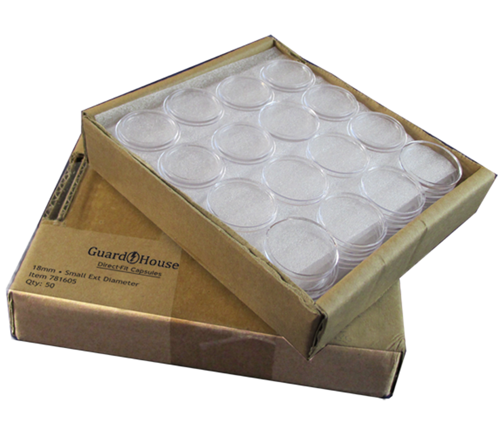 Guardhouse Dime 18mm Direct Fit Coin Capsules, 50 pack image 4