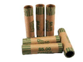 Dime Crimped End Gunshell Coin Wrappers, 40 Pack - $5.99