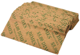 Dime Flat Coin Wrappers, 40 Pack - $4.49