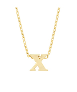 J Goodin Fashion Jewelry Party Gift Golden Initial X Pendant With 18 Inc... - $18.99