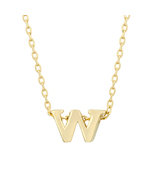 J Goodin Fashion Jewelry Party Gift Golden Initial W Pendant With 18 Inc... - $18.99