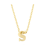 J Goodin Fashion Jewelry Party Gift Golden Initial S Pendant With 18 Inc... - $18.99
