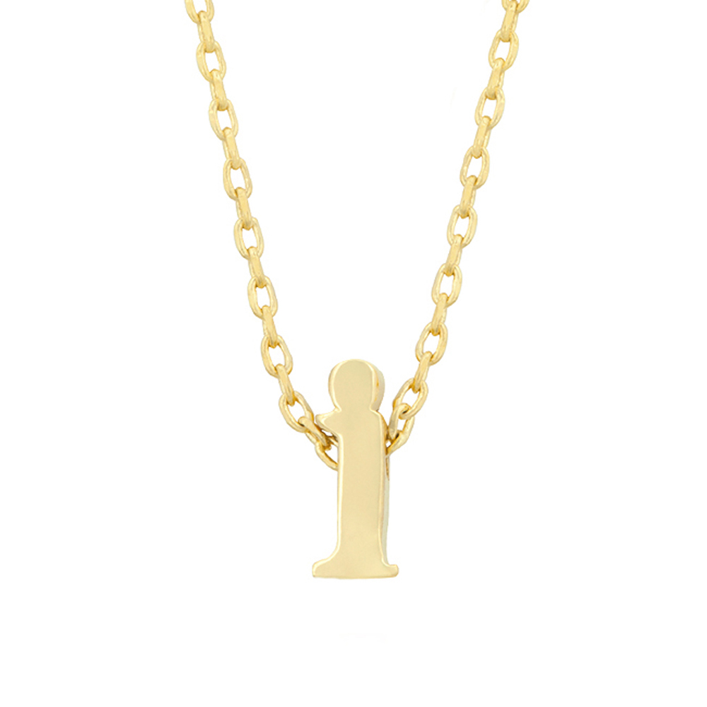 Primary image for J Goodin Fashion Party Jewelry Gift Golden Initial I Pendant With 18 Inch Chain