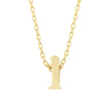 J Goodin Fashion Party Jewelry Gift Golden Initial I Pendant With 18 Inc... - $18.99