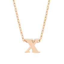 J Goodin Party Jewelry Gift Rosegold Finish Initial X Pendant With 18 Inch Chain - $19.99